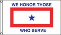 Service Star Nylon Flag 3x5