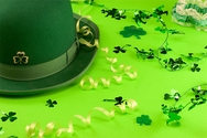 St. Patricks Day Green Hat Flag