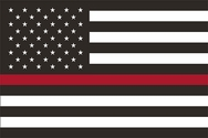 Thin Red Line U.S. Flag 3x5