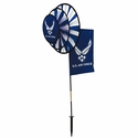 US Air Force Dual Spinner Wheels with Garden Flag