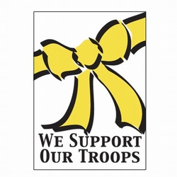 We Support Our Troops Patriotic Banner