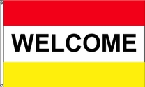 Welcome Flag (Red/Yellow)
