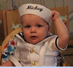 Classic White Dixie Cup Sailor Hat for Newborns, Babies, Toddlers and Children (Now Monogrammable!) (SS04126)