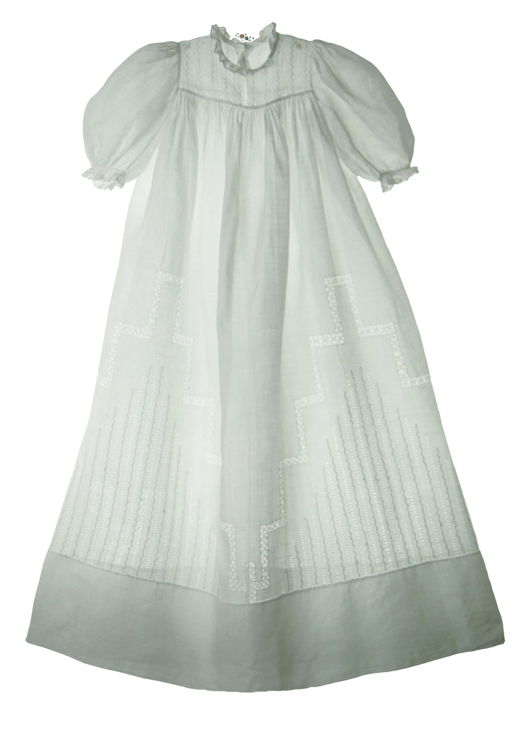 7c521467bfa4 Heirloom 1880s Christening Gown with Incredible Pulled Thread Openwork  Embroidery