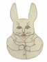 """<img src=""""https://p11.secure.hostingprod.com/@grammies-attic.com/ssl/images/blue-sold-1.gif"""">  Heirloom 1930s Unused Antique White Bib with Bunny Embroidery"""