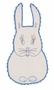"<img src=""https://p11.secure.hostingprod.com/@grammies-attic.com/ssl/images/blue-sold-1.gif""> Heirloom 1930s White Bib with Red and Blue Bunny Embroidery"
