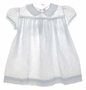 """<img src=""""https://p11.secure.hostingprod.com/@grammies-attic.com/ssl/images/blue-sold-1.gif""""> Heirloom 1940s C.I. Castro White Eyelet Baby Dress with Fagoting and Lace Trim"""