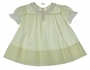 "<img src=""https://p11.secure.hostingprod.com/@grammies-attic.com/ssl/images/blue-sold-1.gif""> Heirloom 1940s Pale Yellow Lace Trimmed Dress with Embroidered Baby Birds"