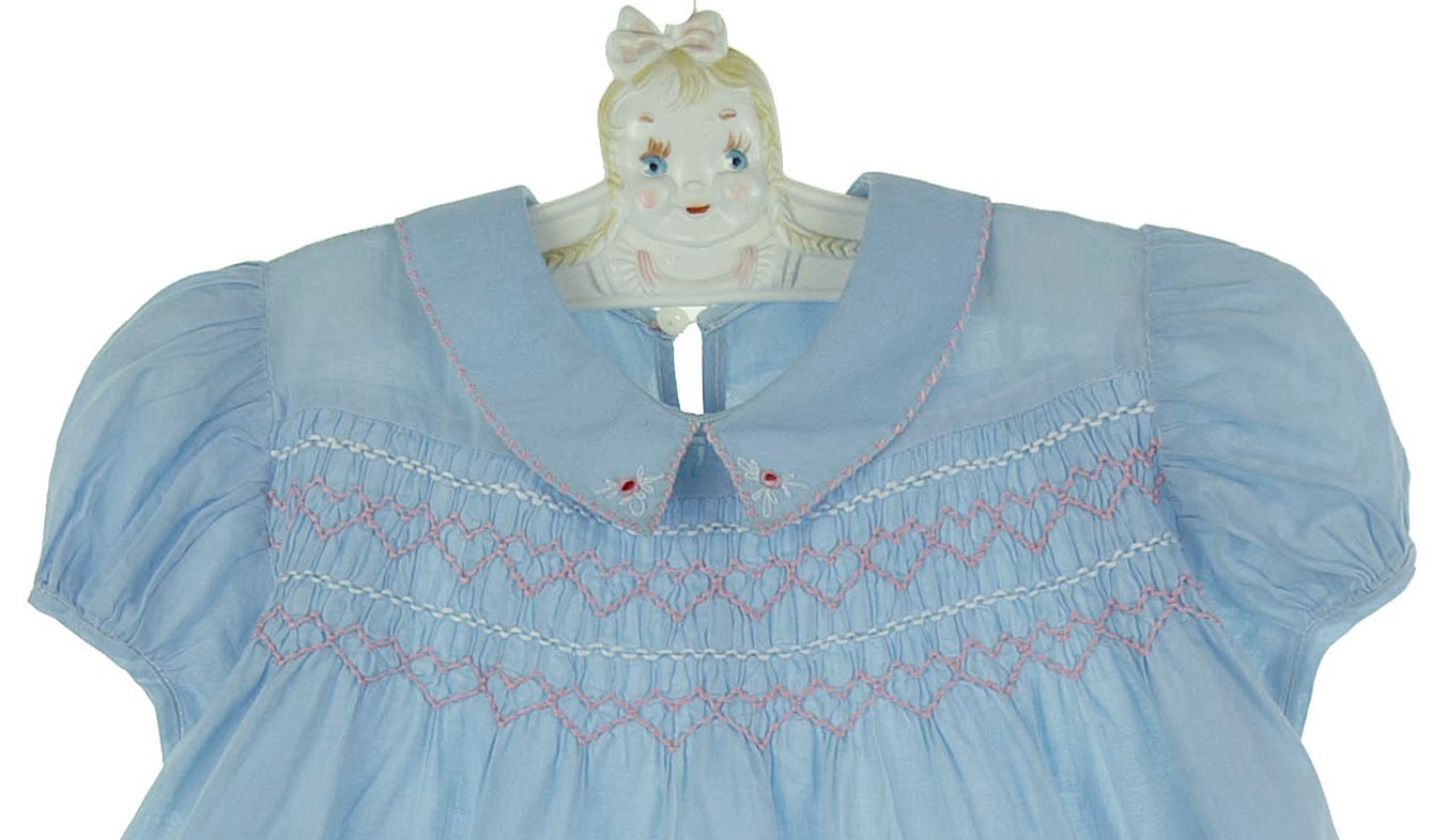 vintage 1940s Polly Flinders smocked dress Polly Flinders