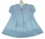 "<img src=""https://p11.secure.hostingprod.com/@grammies-attic.com/ssl/images/blue-sold-1.gif""> Heirloom 1940s Polly Flinders Blue Smocked Dress with Embroidered Pink Hearts"