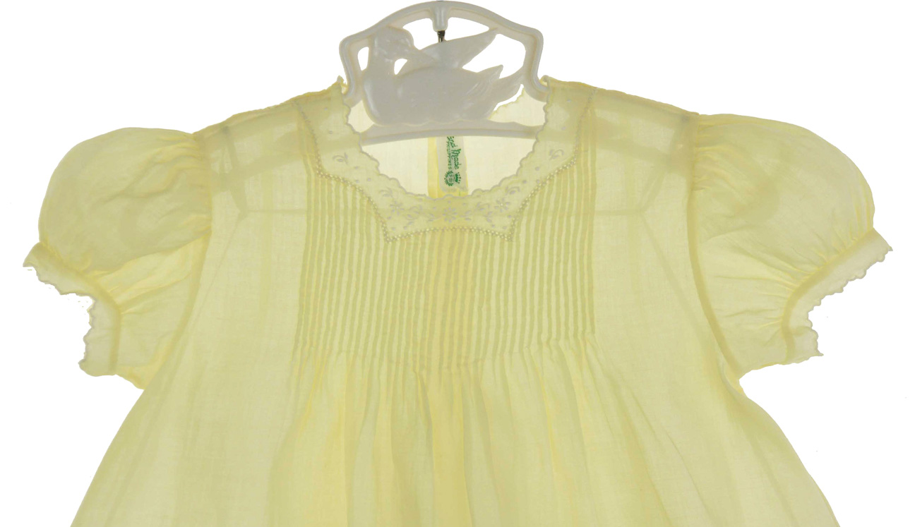 heirloom 1940s Feltman Brothers yellow baby dress Feltman