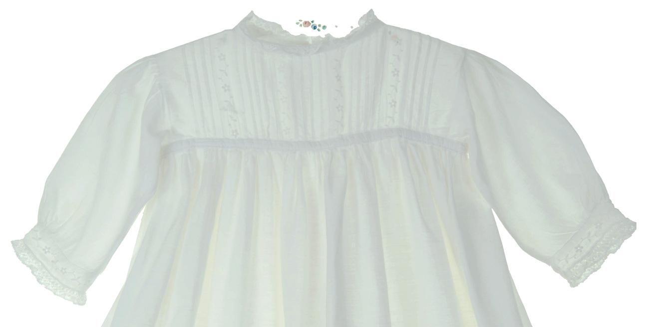 heirloom Edwardian christening gown with pintucks and embroidery ...