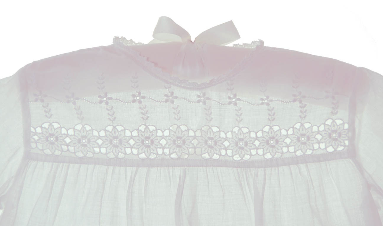 heirloom 1920s Broderie Anglaise baby christening dress