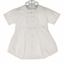 Heirloom Unworn Feltman Brothers White Pintucked Romper with Scalloped Embroidered Collar