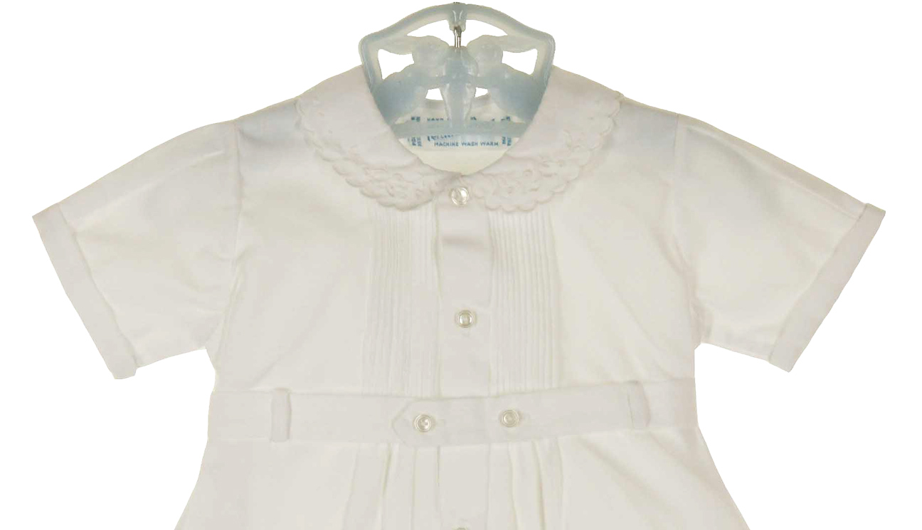 heirloom unworn Feltman Brothers white pintucked romper