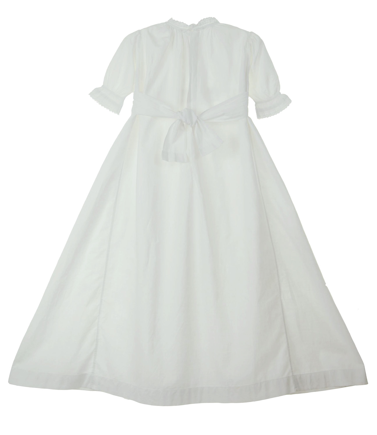 Heirloom Victorian Christening Gown With Whitework Embroidery