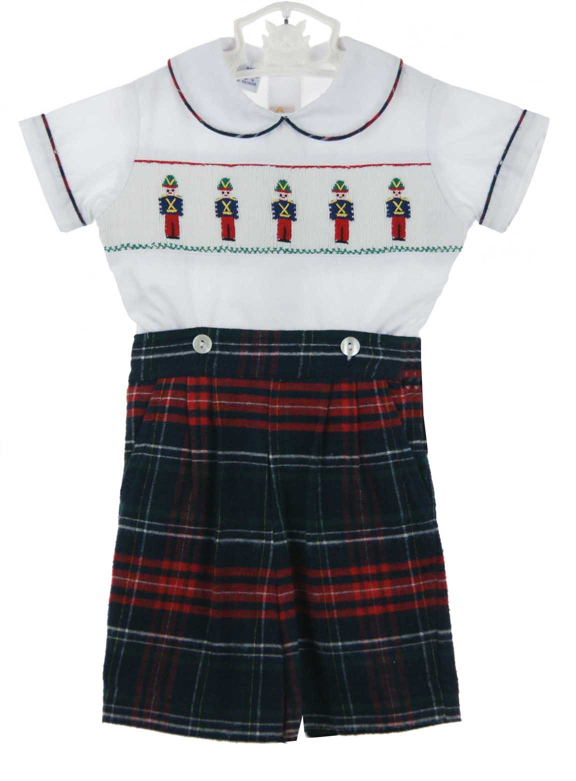 Anavini Nay Plaid Flannel Button On Shorts Set With
