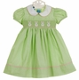 NEW Anavini Lime Green Smocked Dress with Bunny Embroidery