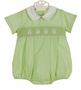 NEW Anavini Lime Green Smocked Romper with Bunny Embroidery