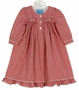 NEW Anavini Red Checked Smocked Gown