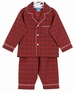 NEW Anavini Red Plaid Monogrammable Cotton Pajamas
