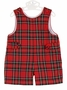 NEW Anavini Red Plaid Shortall with Front Tabs