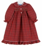NEW Anavini Red Plaid Smocked Gown