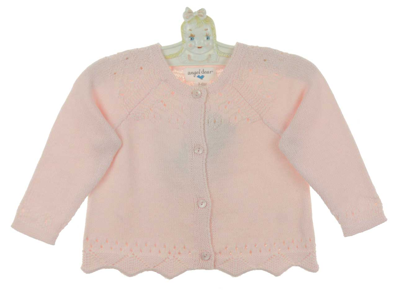Angel Dear pink cotton baby sweater,Angel Dear pink cotton toddler ...