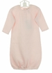 "<img src=""https://p11.secure.hostingprod.com/@grammies-attic.com/ssl/images/blue-sold-1.gif""> NEW Angel Dear Pink Cotton Pointelle Knit Gown with Openwork Detail"