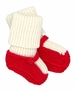 NEW Angel Dear Red and Ivory Mary Jane Style Knit Booties