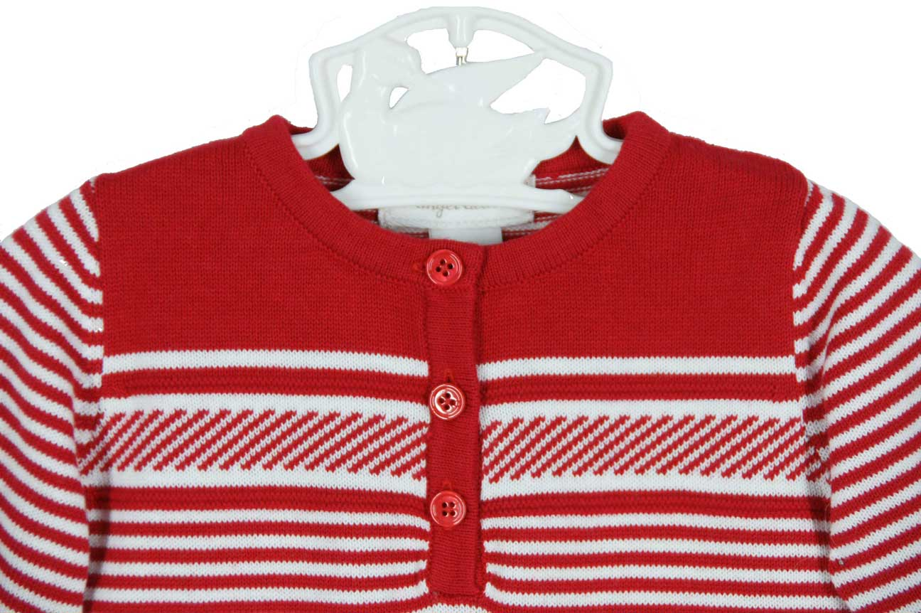 8b3d5988de36 Angel Dear red striped cotton romper