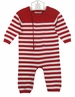 "<img src=""https://p11.secure.hostingprod.com/@grammies-attic.com/ssl/images/blue-sold-1.gif""> NEW Angel Dear Red and White Striped Soft Cotton Knit Romper for Baby Boys or Baby Girls"
