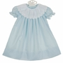 NEW Anvy Kids Blue Dress with Embroidered White Portrait Collar
