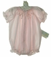 NEW Bailey Babies Pink Smocked Bubble with Embroidered Pink Rosebuds