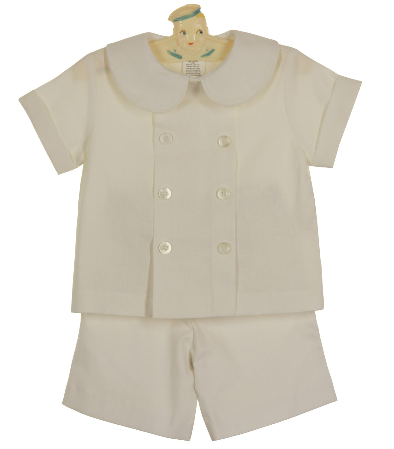 8afe2abb39 Bailey Boys candlelight linen blend double breasted shorts set