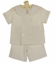 "<img src=""http://site.grammies-attic.com/images/blue-sold-1.gif""> NEW Bailey Boys Candlelight (Soft Ivory) Double Breasted Shorts Set"
