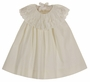 NEW Bailey Boys Candlelight (Soft Ivory) Float Dress with Delicate Lace Collar