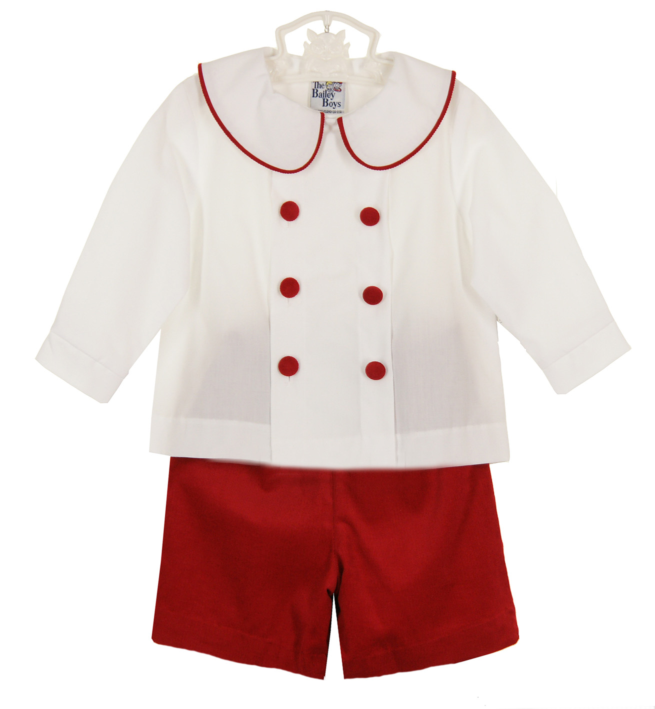 Bailey Boys red shorts set,brother sister matching Christmas ...