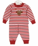 NEW Bailey Boys Red Striped Pajamas with Reindeer Applique