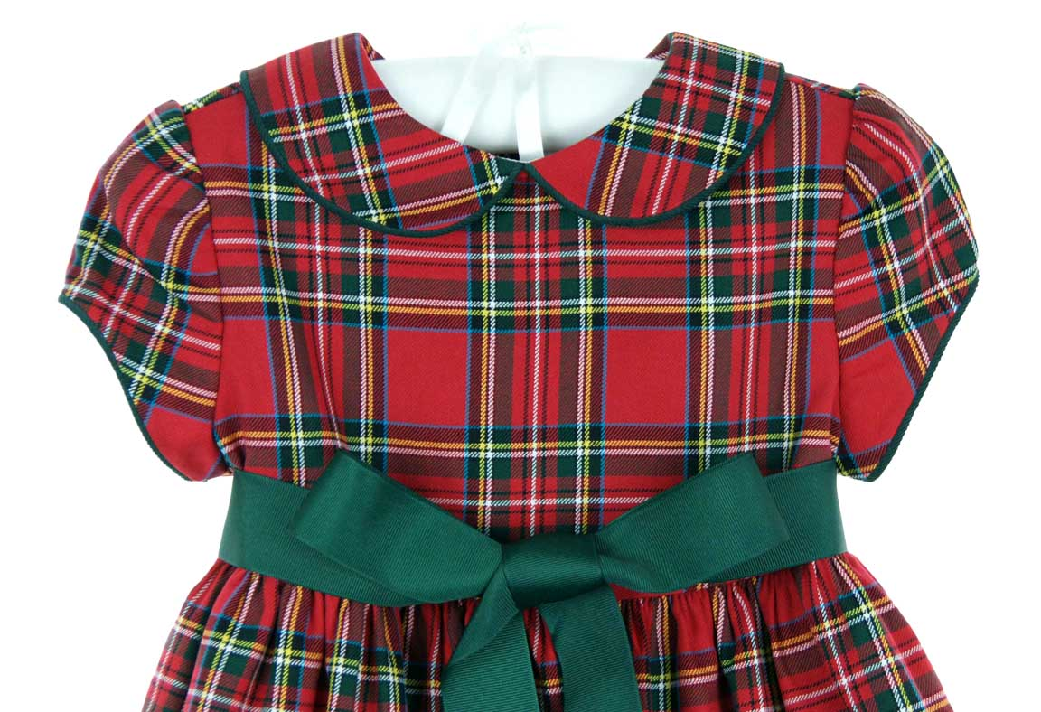 sold out - Girls Plaid Christmas Dress