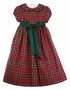 "<img src=""https://p11.secure.hostingprod.com/@grammies-attic.com/ssl/images/blue-sold-1.gif""> NEW Bailey Boys Red Tartan Plaid Dress with Green Ribbon Tie"