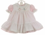 "<img src=""https://p11.secure.hostingprod.com/@grammies-attic.com/ssl/images/blue-sold-1.gif""> NEW Beatrix Potter Pink Dress with Peter Rabbit Embroidered Pinafore"