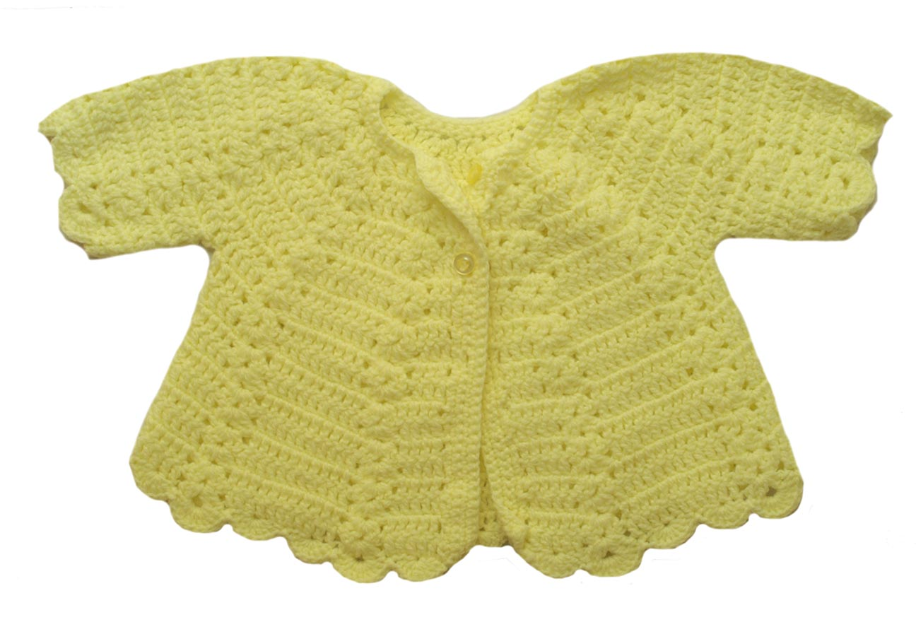 hand crocheted bright yellow sweater set,bright yellow crocheted ...