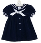 "<img src=""https://p11.secure.hostingprod.com/@grammies-attic.com/ssl/images/blue-sold-1.gif""> NEW C. I. Castro Navy Velvet Sailor Dress"
