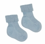 NEW Carlino Blue Cotton Socks with Diamond Stitched Cuffs