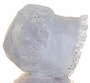 NEW Charleston Style White Eyelet Baby Bonnet with Eyelet Ruffle