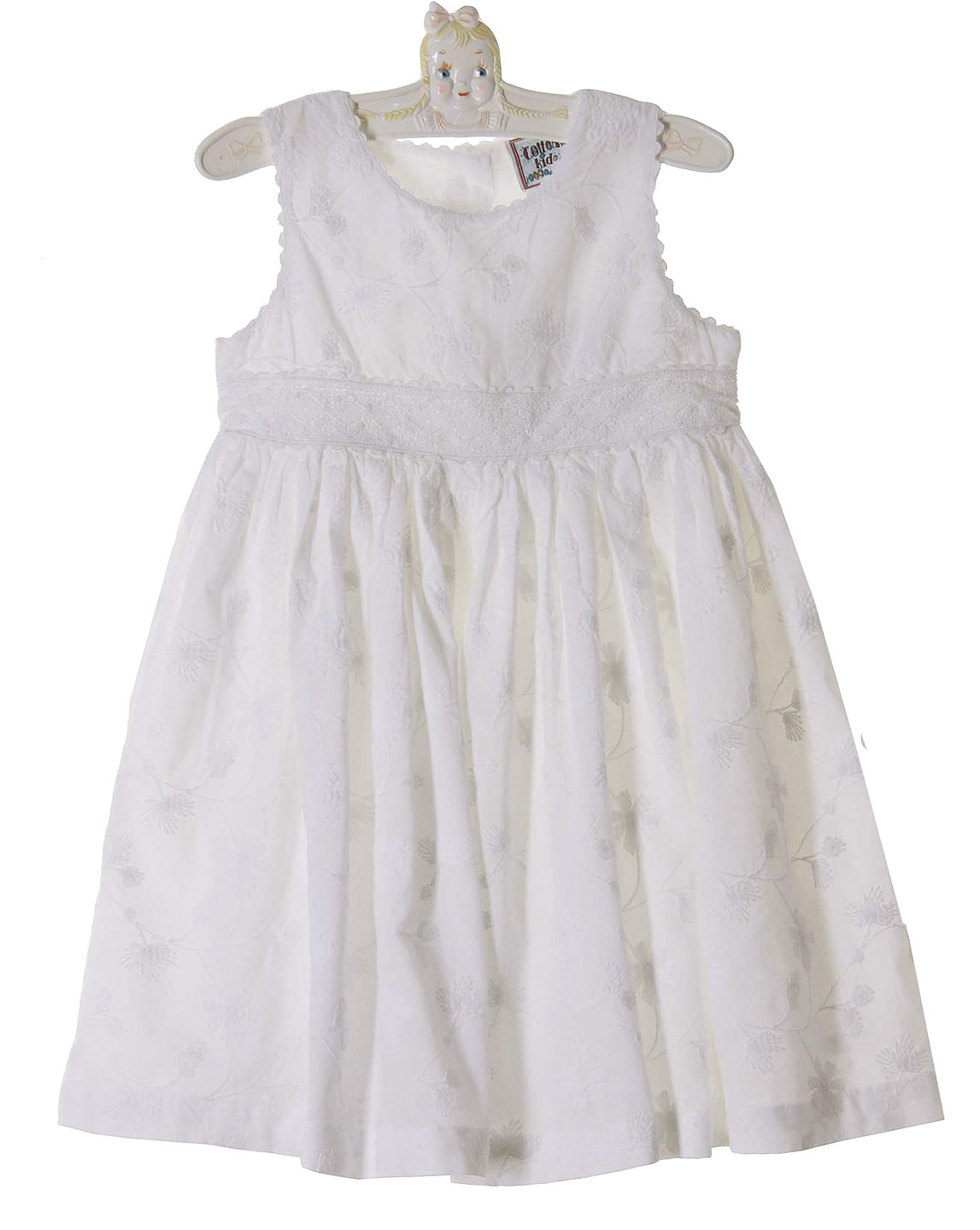 Cotton Kids white embroidered eyelet dress baby girls