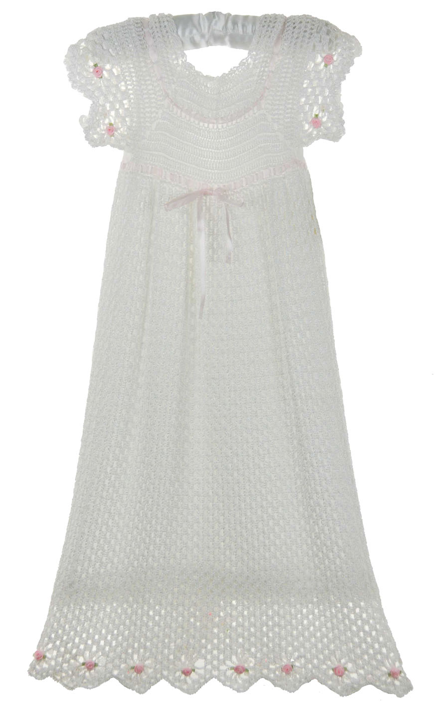 custom crocheted white christening gown for baby girls,custom ...