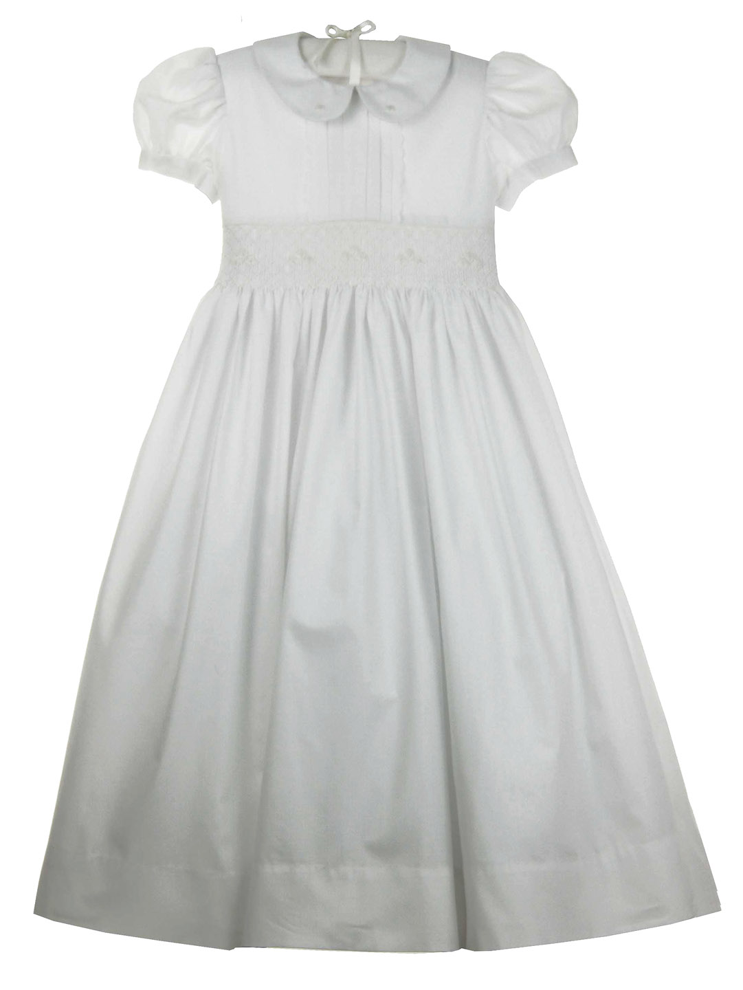 New Marco Amp Lizzy White Batiste Smocked Dress With