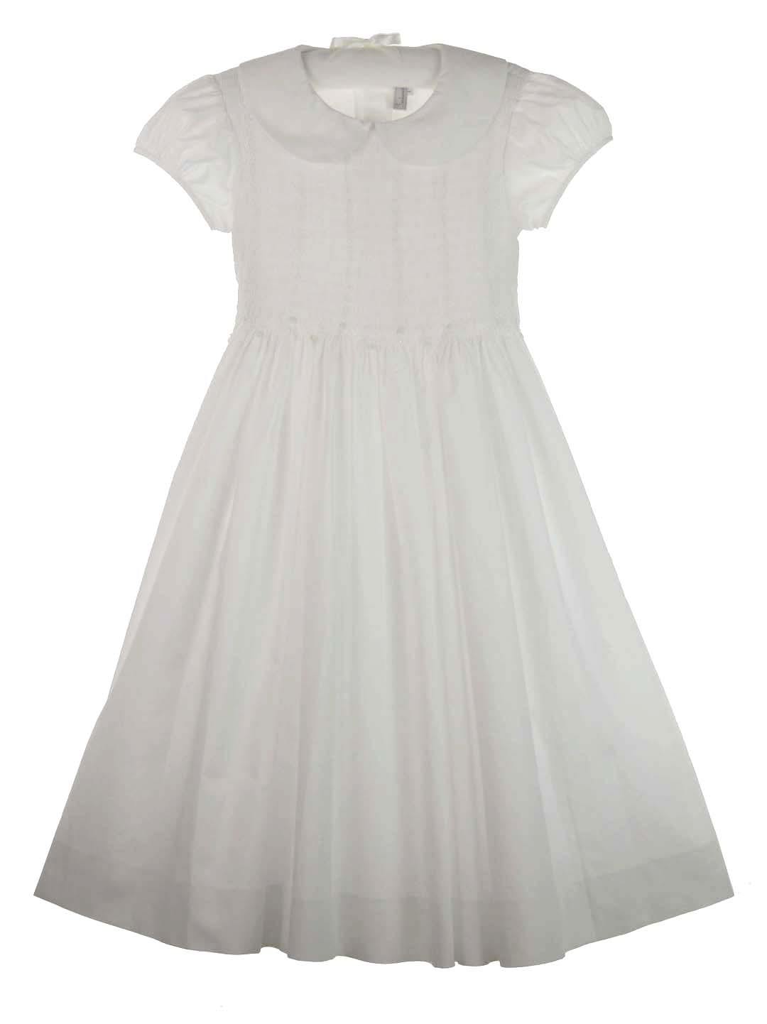 Fantaisie,Fantaisie Kids,girls white cotton dress,white cotton ...